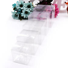 50Pcs Transparent Cube Clear PVC Plastic Cake Wedding Favor Gift Candy Boxes