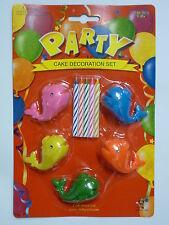 Le balene PARTY Candela Decorazione Per Torta Set compleanno cake topper Figura Personaggio