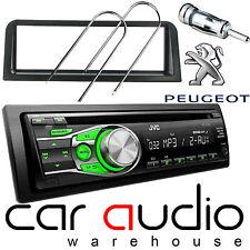 PEUGEOT 106 JVC CD MP3 AUX AFFICHAGE Vert Voiture Radio stéréo Lecteur & kit de montage
