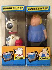 FUNKO FAMILY GUY BRIAN & CHRIS X2 S1 BOBBLE HEAD WACKY WOBBLER NEW *BOX WEAR*