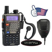 Baofeng UV-5R+ Plus V/UHF Dual Band Two Way Ham Radio Walkie Talkie + Speaker