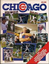 NLCS BASEBALL 1984 Official Program CUBS VS. PADRES