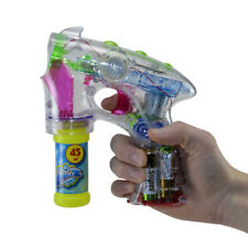 Seifenblasenpistole mit Licht & Sound Seifenblasenflüssigkeit Bubble Gun