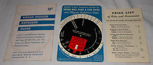 Eastman Kodak Company Indoor Exposure Guide Kodaguide 1211 Price List Photograph