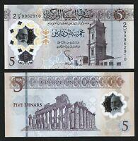 Libya 5 Dinar 2021, UNC, POLYMER, P-New, NEW DESIGN