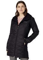 Women's COLUMBIA Heavenly Long Hybrid Insulated Hooded Jacket Coat - Size XL
