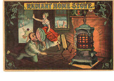 Old Antique Radiant Home Stove ( Ge Rmer-Erie Pa) Trade Card Post Card - scarce