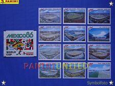 Panini★WM 1986 WorldCup WC 86★ Stadien-Bilder komplett / Stadium complete set