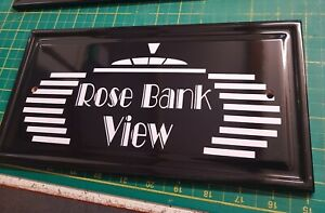 ART DECO PERSONALISED HOUSE NAME SIGN CERAMIC SIGN ANY NAME