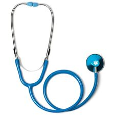Light Blue Single Head Stethoscope with Star of Life EMT Paramedic
