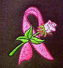 Breast Cancer 4XL Sweatshirt Pink Ribbon Rose Brown Crew Neck Awareness New