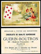 Chromo Guérin-Boutron - Jeu de Cartes - Huit de Carreau