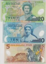 More details for three new zealand p186b, p191 & p192 banknotes in mint condition