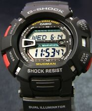 Casio G-Shock Mens Digital Wrist Watch Mudman G9000-1 G9000-1V Black Digital New