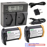 Kastar Battery LCD Dual Fast Charger for LP-E4N Canon US 5751B002 Camera Battery