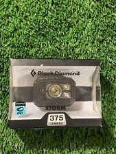 Black Diamond Storm Headlamp 375 Lumens Graphite ~ Brand New ~ SEALED FREE SHIPP