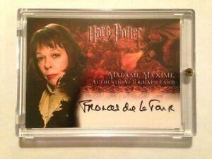 HARRY POTTER GOBLET OF FIRE AUTOGRAPH CARD Frances de la Tour Madame Maxime AUTO