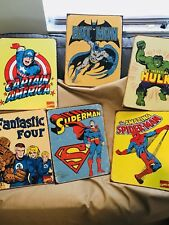 Marvel DC Super Hero Comic Retro Vintage Style Tin Metal Sign Weathered