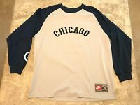 Earnie Banks #14 Chicago Cubs VTG Sewn Nike Throwback Baseball Jersey Size XL