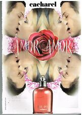 "Publicité Advertising 2005 Parfum ""Amor Amor"" de cacharel"