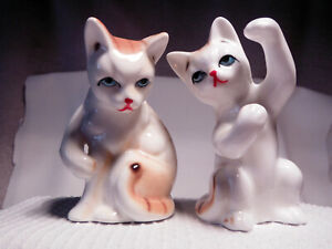 2 CERAMIC KITTENS