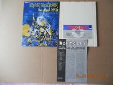 IRON MAIDEN - LIVE AFTER DEATH VIDEO DISC VHD JAPAN VICTOR VHM68095 (k7,tape,lp)