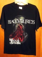 BLACK VEIL BRIDES med T shirt 2010 glam metal We Stitch These Wounds tee