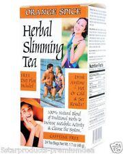 21st Century Health Care Herbal Slimming Tea Orange Spice Caffeine Free 24 Bags
