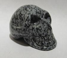 "Snowflake Obsidian Skull 1 3/4"""