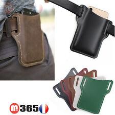 protection telephone en pu porte smartphone de ceinture pochette portable etui