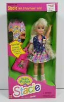 Polly Pocket Stacie Barbie Doll Mattel 12982 w/3 Polly Pocket Dolls 1994 Mattel