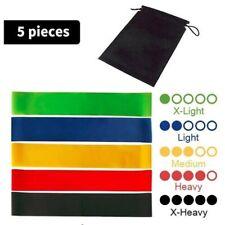 Resistance Loop Bands - 5 Pieces Set, Multicolor.