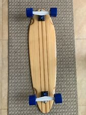 """Bamboo Longboard Pin Tail Sector 9 Trucks 36""""X 9.75"""" New Fast And Smooth"""