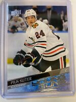 2020-21 UD Young Guns Rookie Pius Suter 484 CHICAGO BLACKHAWKS FREE SHIPPING