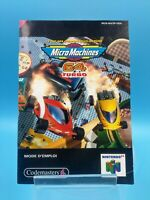 jeu video notice BE nintendo 64 FRA micro machines 64 turbo