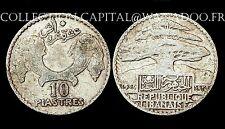 10 Piastres 1929 République Libanaise. Colonies Françaises. Argent