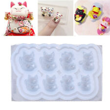 8 Different Fortune Cat Postures Nail Art Mold Expoy Resin Cabochon Jewelry Mold