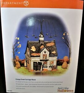 Dept 56 Snow Village Halloween - Creepy Creek Carriage House #56.55055 - MINT!