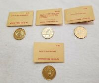 (4) Apollo Gold-Like Moon Medals (Pre-Owned)