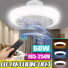 60W Modern LED Ceiling Fan Light Lighting Adjustable Wind Speed W/Remote Control