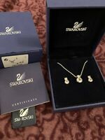 Swarovski - Rhodium Plated Brilliance Jewellery Pendant Earring Set 1807339 -NEW