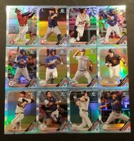 2019 BOWMAN DRAFT CHROME SKY BLUE PARALLEL REFRACTOR You Pick Complete Your Set