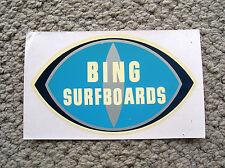 Vintage Bing surfboard Waterslide surfing decal longboard hermosa beach 1962 rar