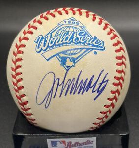 1995 World Series HOF John Smoltz Auto Atlanta Braves MLB PSA/DNA cert (Stains)