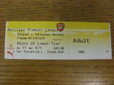 27/09/2014 Ticket: Arsenal v Tottenham Hotpsur  (complete). Bobfrankandelvis (ak