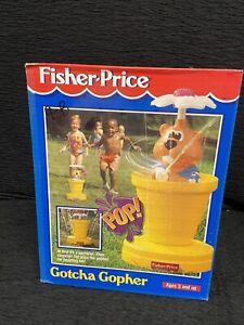 Vintage Fisher Price Gotcha Gopher Sprinkler Rare New Never used Sealed Box