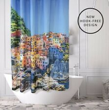 Beautiful Places Shower Curtain Clinque Terre Italy NIP