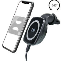 Magnetic Wireless Charger Car Air Vent Mount Automatic Holder Bracket Universal