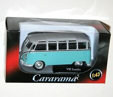 Cararama - VW Volkswagen SAMBA Bus (Pale Turquoise Model Scale 1:43