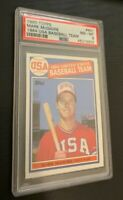 "1985 Topps Mark McGwire ""84"" USA Baseball Team #401 PSA 8 NM-MT ROOKIE CENTERED"